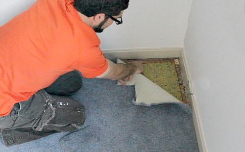 Carpet and pad removal