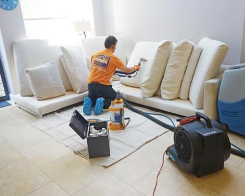 Dry upholstery cleaning services